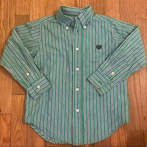 Boys chaps button down shirt